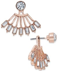 Inc International Concepts Crystal Fan Earring Jackets Only At Macy's Rose Gold