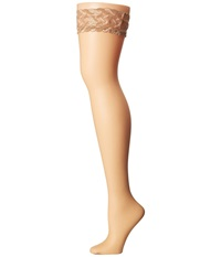 Falke Shelina Toeless Stay Up Tights Powder Hose Beige