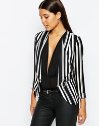 Lipsy Lightweight Blazer In Stripe Multi