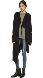 Superfine Chime Sweater Coat Black