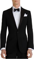 Ralph Lauren Black Label Silk Peaked Lapel 'Anthony' Tuxedo Black Size