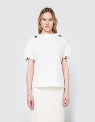 Marni Crew Neck Blouse In Lily White
