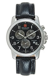 Swiss Military Hanowa Soldier Chronograph Watch Black
