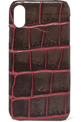 The Case Factory Croc Effect Leather Iphone Xr Brown
