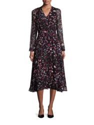 Lk Bennett Silk Floral Dress Black