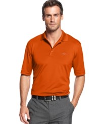 Greg Norman For Tasso Elba Big And Tall 5 Iron Performance Golf Polo Blood Orange