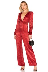 House Of Harlow X Revolve Vera Jumpsuit Red