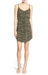 Women's Sanctuary 'Beach' Camo Print Drawstring Waist Minidress