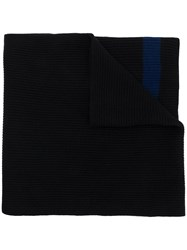 Kenzo Embroidered Logo Scarf Blue