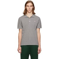 Maison Kitsune Grey Tricolor Fox Polo
