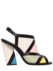 Roger Vivier 100Mm Skyscraper Bauhaus Leather Sandals