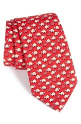 Vineyard Vines Maryland Terrapins Silk Tie Red