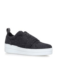 Kurt Geiger London Labelle Raffia Low Top Sneakers Female Grey