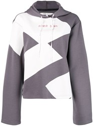 Damir Doma X Lotto Drawstring Hoodie Pullover Pink And Purple