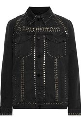 Frame Le Studded Denim Jacket Black
