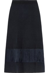 Roksanda Ilincic Sybella Knitted Maxi Skirt Midnight Blue