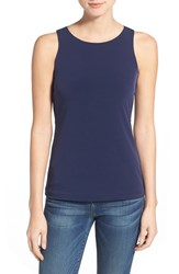 Women's Halogen Double Layer Tank Navy Peacoat