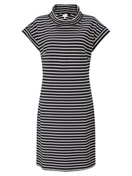East Bardot Stripe Jersey Dress Navy