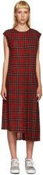 R 13 Red Tartan Slouch Kilt Dress