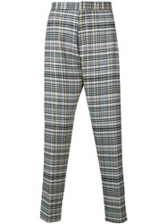 Stephan Schneider Checked Trousers Grey