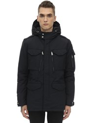 Schott Smith Nylon And Cotton Jacket Black