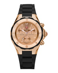 Michele Tahitian Jelly Bean Rose Dial Watch Black