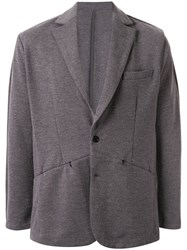 Loveless Paneled Blazer Grey