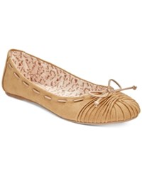 Mojo Moxy Dolce By Akachi Bow Flats Women's Shoes Camel