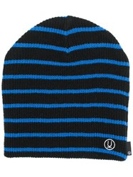 Undercover Striped Beanie Hat Black