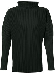 Homme Plisse Issey Miyake Turtleneck Top Men Polyester 3 Black