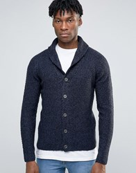 Only And Sons Shawl Neck Cardigan With Mix Yarn Detail Black Navy
