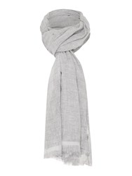 Oui Small Star Scarf Grey