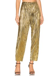 House Of Harlow X Revolve Kate Pants Metallic Gold