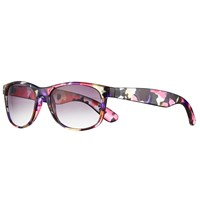 John Lewis Floral D Frame Sunglasses Multi Purple Gradient
