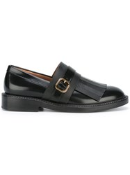 Marni Monk Strap Fringed Loafers Black