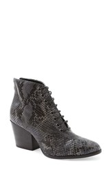 Andre Assous Women's 'Florencia' Lace Up Bootie Grey Leather