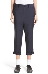 Comme Des Garcons Women's Tropical Wool And Kid Mohair Crop Pants