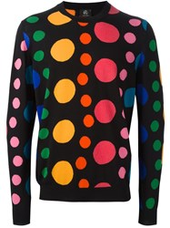 Paul Smith Ps By Dot Intarsia Sweater Black