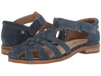 Hush Puppies Chardon Fisherman Vintage Indigo Suede Sandals Blue