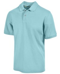 Club Room Short Sleeve Solid Estate Performance Sun Protection Polo Clear Skies