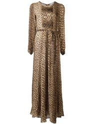 P.A.R.O.S.H. Leopard Print Dress Brown