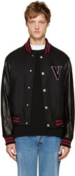 Versus Black 'V' Baseball Bomber Jacket