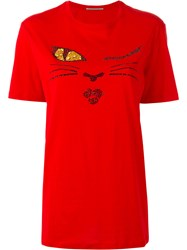 Ermanno Scervino Crystal Face T Shirt Red