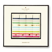 Kate Spade Eraser Set Candy Stripe
