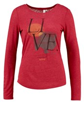 S.Oliver Denim Long Sleeved Top Autumn Red