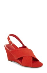 Athena Alexander Eastford Wedge Sandal Red Suede