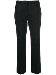 Alexander Mcqueen Cropped Tailored Trousers Grey