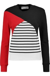 Etre Cecile Color Block Cotton Sweatshirt Black