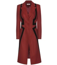 Altuzarra Nisa Wool Blend Coat Red