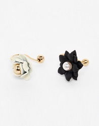Asos Limited Edition Flower Anywhere Ear Cuff Pack Multi